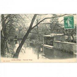 carte postale ancienne 91 JUVISY SUR ORGE. Lavoir et Femmes sur l'Orge 1911