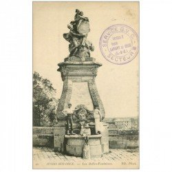 carte postale ancienne 91 JUVISY SUR ORGE. Les Belles Fontaines 1916 belle animation