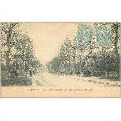 carte postale ancienne 91 JUVISY SUR ORGE. Les Belles Fontaines Route de Fontainebleau 1905