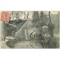 carte postale ancienne 91 JUVISY SUR ORGE. Pont des Belles Fontaines 1906
