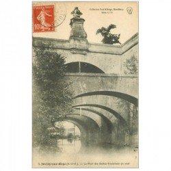 carte postale ancienne 91 JUVISY SUR ORGE. Pont des Belles Fontaines 1914
