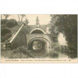 carte postale ancienne 91 JUVISY SUR ORGE. Pont des Belles Fontaines Cours de France et cycliste