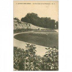 carte postale ancienne 91 JUVISY SUR ORGE. Terrasse et Pelouse tampon militaire 1915