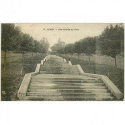 carte postale ancienne 91 JUVISY SUR ORGE. Une Entrée du Parc 1922