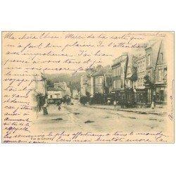 carte postale ancienne 14 LIVAROT. La Ville 1901. Timbre absent