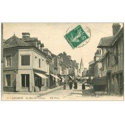 carte postale ancienne 14 LIVAROT. Rue de Falaise 1914