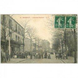carte postale ancienne 93 BAGNOLET. Bar Tabac La Civette avenue Pasteur 1908. Petite restauration coin gauche