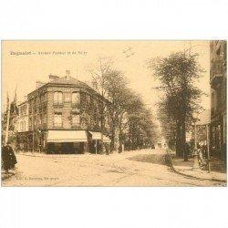 carte postale ancienne 93 BAGNOLET. Café Hirondelle Avenue Pasteur et de Noisy ou Noisy le Sec