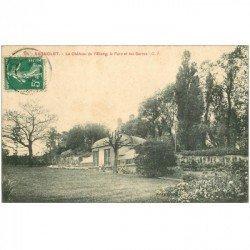 carte postale ancienne 93 BAGNOLET. Château de l'Etang Parc et Serres vers 1908