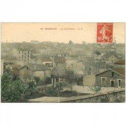 carte postale ancienne 93 BAGNOLET. Le Quartier Val Fleuri 1909 depuis la rue Henriette. Petite restauration bord inférieur