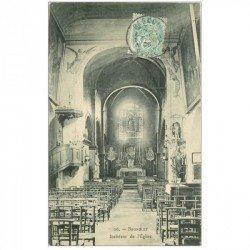 carte postale ancienne 93 BAGNOLET. L'Eglise Saint Leu Saint Gilles rue Sadi Carnot 1906 intérieur