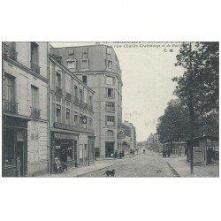 """carte postale ancienne 93 BAGNOLET. Café Restaurant """" Le Bal Perdu """" rue Graindorge et rue de Paris"""