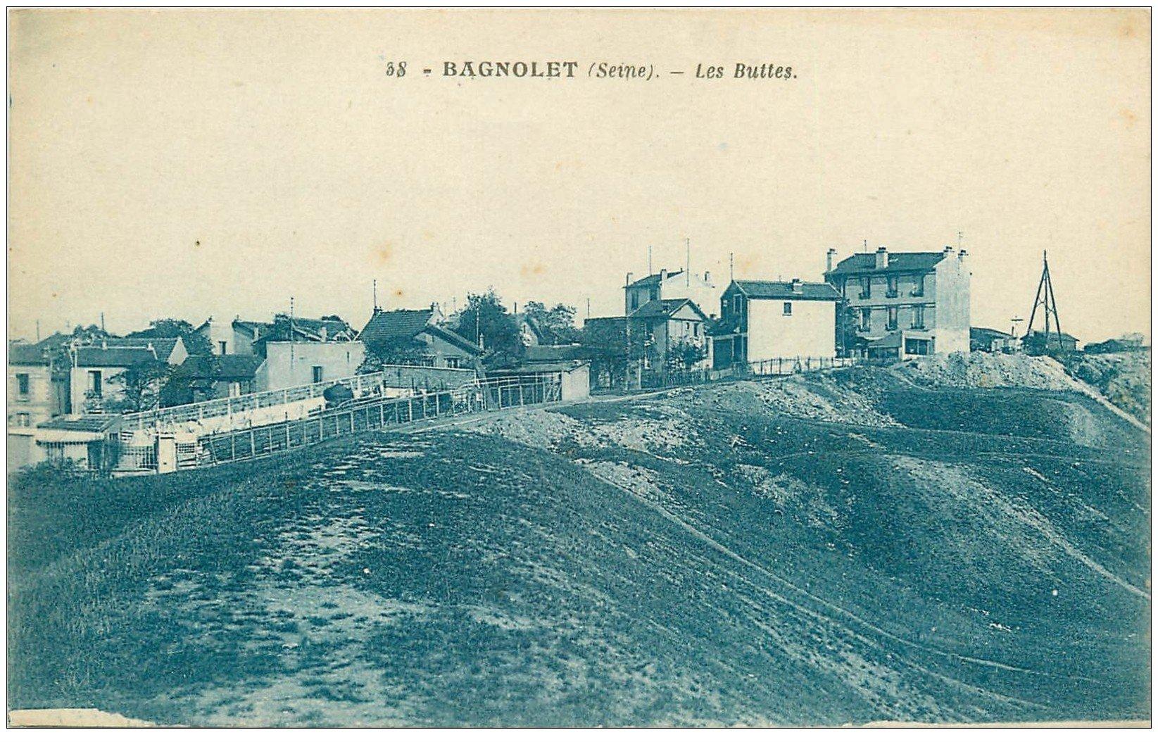 carte postale ancienne 93 BAGNOLET. Restaurant Le Bellevue en haut des Buttes 1932