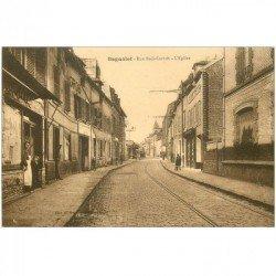carte postale ancienne 93 BAGNOLET. Rue Sadi Carnot avant la Rue Antoine Panier