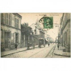 carte postale ancienne 93 BAGNOLET. Rue Sadi Carnot vers le n° 100 en 1924