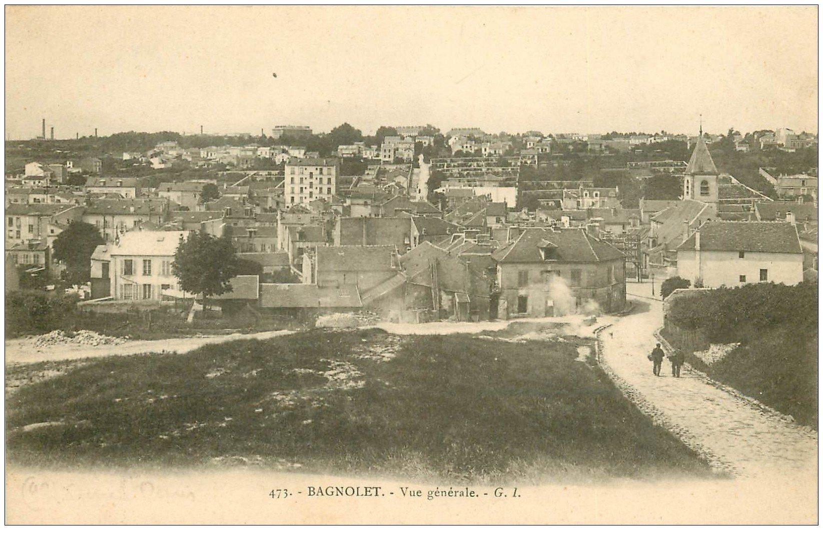 carte postale ancienne 93 BAGNOLET. Vue générale de la Rue Lénine anciennement Rue de Montreuil