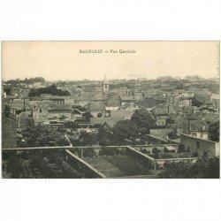 carte postale ancienne 93 BAGNOLET. Vue générale sur les Clos à Pêches 1925