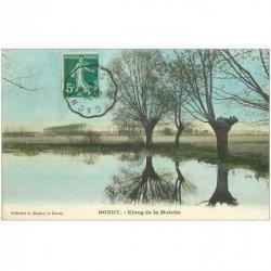 carte postale ancienne 93 BONDY. Etang de la Molette 1908