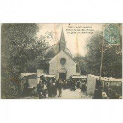 carte postale ancienne 93 CLICHY SOUS BOIS. Jour de Pélerinage Notre Dame des Anges vers 1907. Trace rouille élastique...