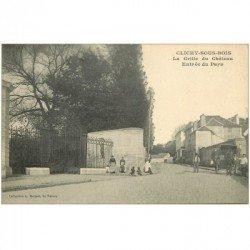 carte postale ancienne 93 CLICHY SOUS BOIS. La Grille du Château à l'Entrée du Pays