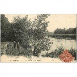 carte postale ancienne 93 GOURNAY SUR MARNE. Animation aux Bords de la Marne 1907
