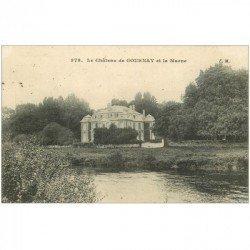 carte postale ancienne 93 GOURNAY SUR MARNE. Château et la Marne 1909
