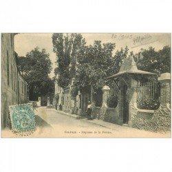 carte postale ancienne 93 GOURNAY SUR MARNE. Impasse de la Ferme 1903