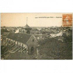 carte postale ancienne 93 MONTREUIL SOUS BOIS. Panorama et Eglise