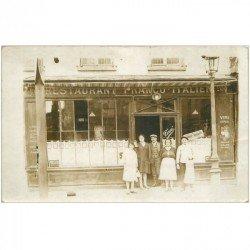 carte postale ancienne 93 MONTREUIL SOUS BOIS. Rare Photo Cpa Restaurant italien Tosi au 200 rue de Paris