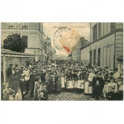 carte postale ancienne 93 MONTREUIL SOUS BOIS. Rue de l'Usine