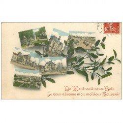carte postale ancienne 93 MONTREUIL. Fantaisie multivues 1908