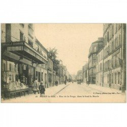 carte postale ancienne 93 NOISY LE SEC. Magasin Damoy rue de la Forge 1917