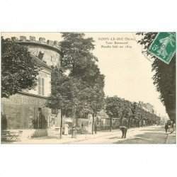 carte postale ancienne 93 NOISY LE SEC. Tour Bonneval 1912 Restaurant Billard