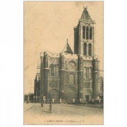 carte postale ancienne 93 SAINT DENIS. La Basilique 1912