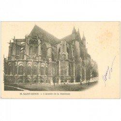 carte postale ancienne 93 SAINT DENIS. La Basilique Abbaye Abside 1902