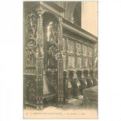 carte postale ancienne 93 SAINT DENIS. La Basilique Abbaye les Stalles 56