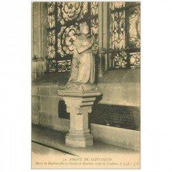 carte postale ancienne 93 SAINT DENIS. La Basilique Abbaye Marie et Charles de Bourbon