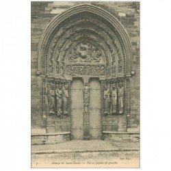 carte postale ancienne 93 SAINT DENIS. La Basilique Abbaye Porte