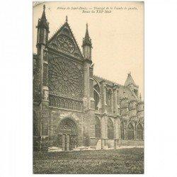 carte postale ancienne 93 SAINT DENIS. La Basilique Abbaye Rosace Transept 9