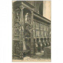 carte postale ancienne 93 SAINT DENIS. La Basilique Abbaye Stalles du Choeur