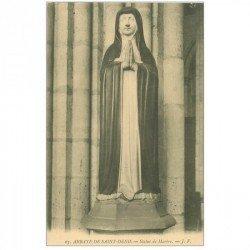 carte postale ancienne 93 SAINT DENIS. La Basilique Abbaye Statue de Marbre