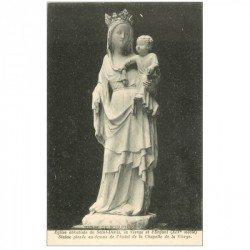 carte postale ancienne 93 SAINT DENIS. La Basilique Abbaye Statue Vierge et Enfant