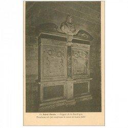 carte postale ancienne 93 SAINT DENIS. La Basilique Abbaye Tombeau Coeur Louis XIII