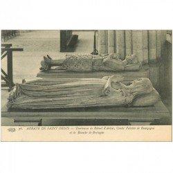 carte postale ancienne 93 SAINT DENIS. La Basilique Abbaye Tombeau Robert d'Artois