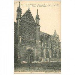 carte postale ancienne 93 SAINT DENIS. La Basilique Rosace Transept