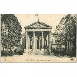 carte postale ancienne 93 SAINT DENIS. La Justice de Paix