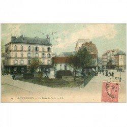 carte postale ancienne 93 SAINT DENIS. La Porte de Paris 1905