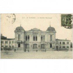 carte postale ancienne 93 SAINT DENIS. Le Théâtre Municipal 1918