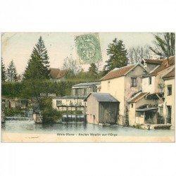 carte postale ancienne K. 91 ATHIS-MONS. Ancien Moulin sur l'Orge 1907