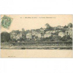 carte postale ancienne K. 91 ATHIS-MONS. Le Coteau 1907 et Péniches